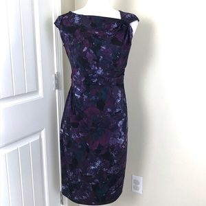 Tribal Purple sleeveless Sheath dress Sz M